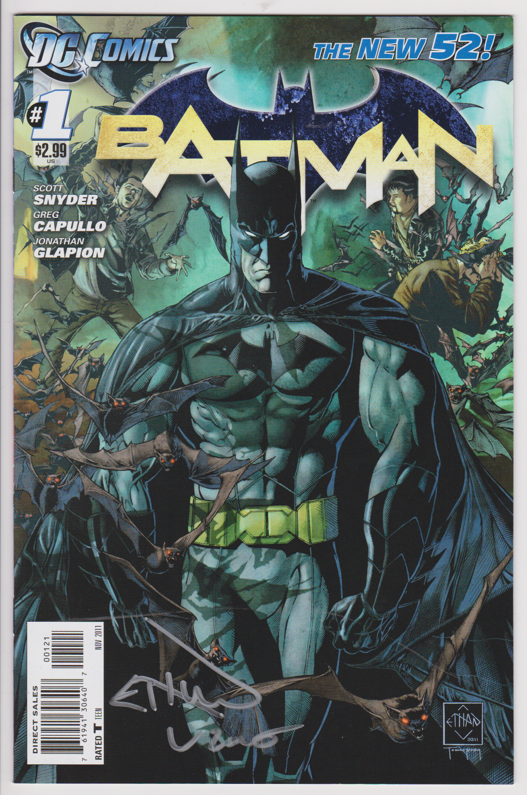 Signature Series Batman #1 New 52 Variant Signed by Artist