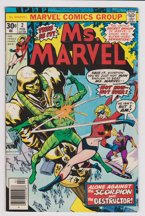 Ms. Marvel #2 2nd Appearance & Origin of Ms. Marvel (Feb 1977, Marvel)