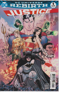 Justice League #1 (1st Print Regular Cover) 2016 DC Universe Rebirth