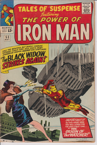 TALES OF SUSPENSE #53 Iron Man, Black Widow, Watcher.
