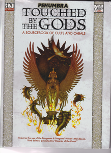 PENUMBRA TOUCHED BY THE GODS RPG SOURCEBOOK OF CULTS AND CABALS HARDCOVERR D20