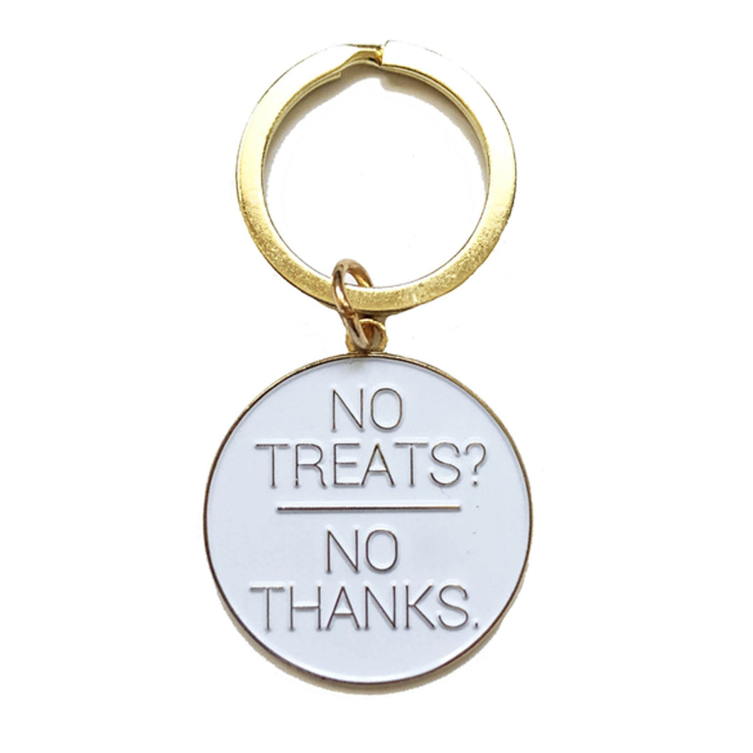 NO TREATS? NO THANKS. DOG ID TAG CHARM