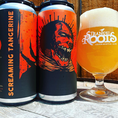 Screaming Tangerine Wheat Beer  (4 Pack Cans)