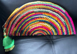 Rainbow Raffia Clutches