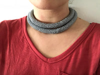 Single Layer Statement Loop Necklaces-Beaded