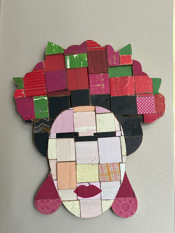 Frida Kahlo Wood Art Piece
