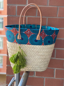 Rattan and Wax Print Shoppers