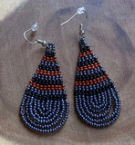 Hand Beaded Drop Earrings