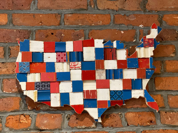 United States Woooden Wall Art