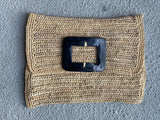 Raffia and Cow Horn Clutches