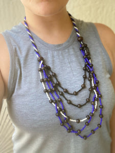 Layered Modern Blues Necklace
