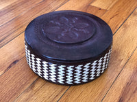 Leather Round Storage Boxes