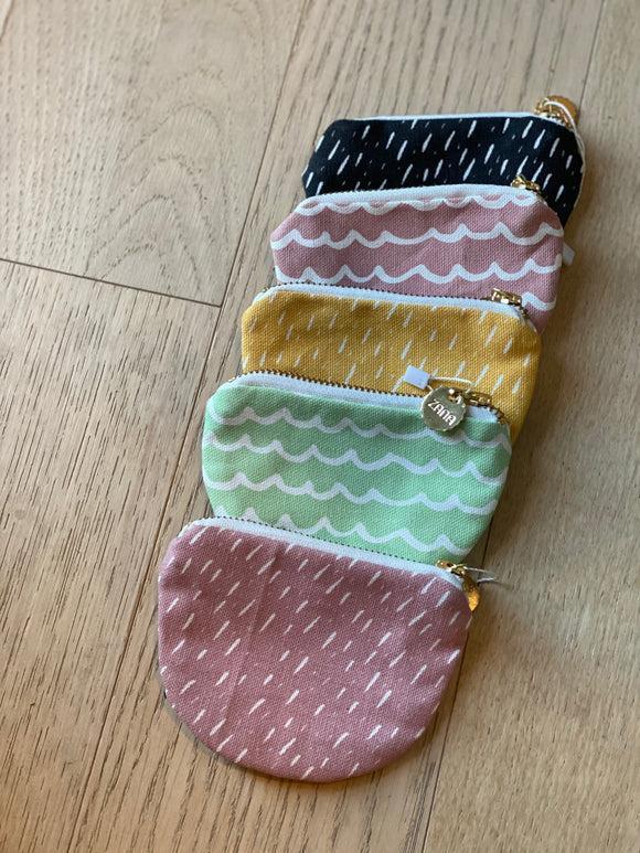 Modern Leather and Cotton Coin Purses