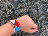 Unisex Zulu Beaded Snap Bracelets