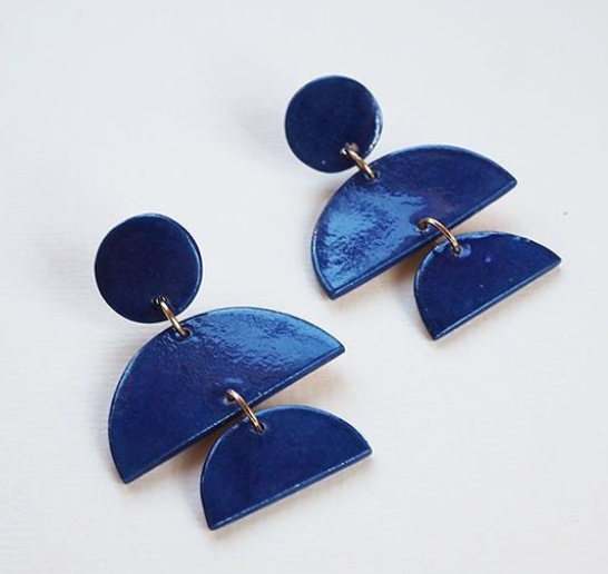 Ceramic Multi-Drop Earrings