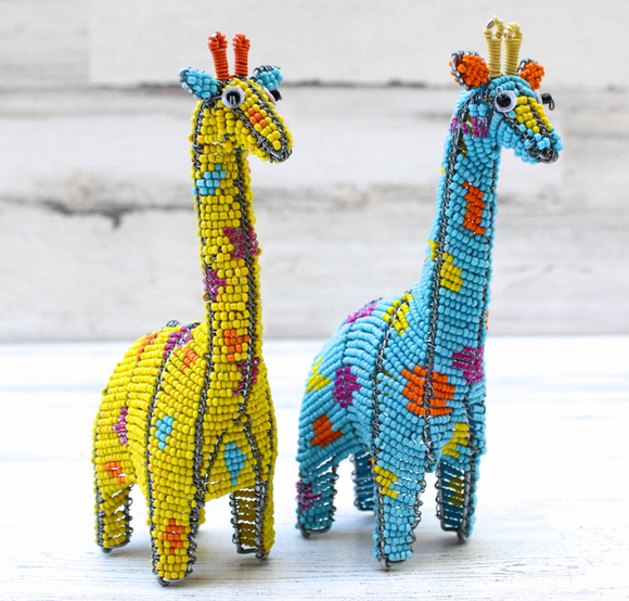 Vibrant Beaded Animal Collection