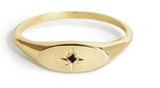 Signet Star Rings