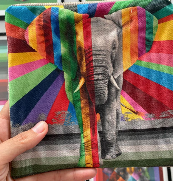 Rainbow Elephant Bag
