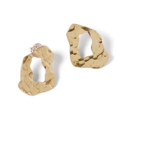 Hammered Shell Studs