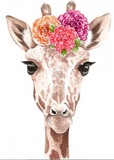 Watercolor Flower Crown Baby Wild Animals