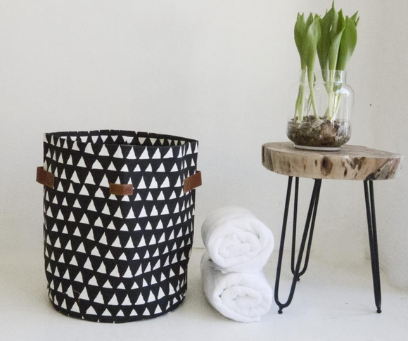 Chic Cotton & Leather Storage Bins