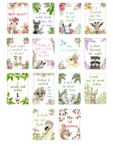 Watercolor Baby Milestone Cards