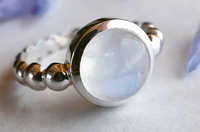 Semi-Precious Bubble Rings
