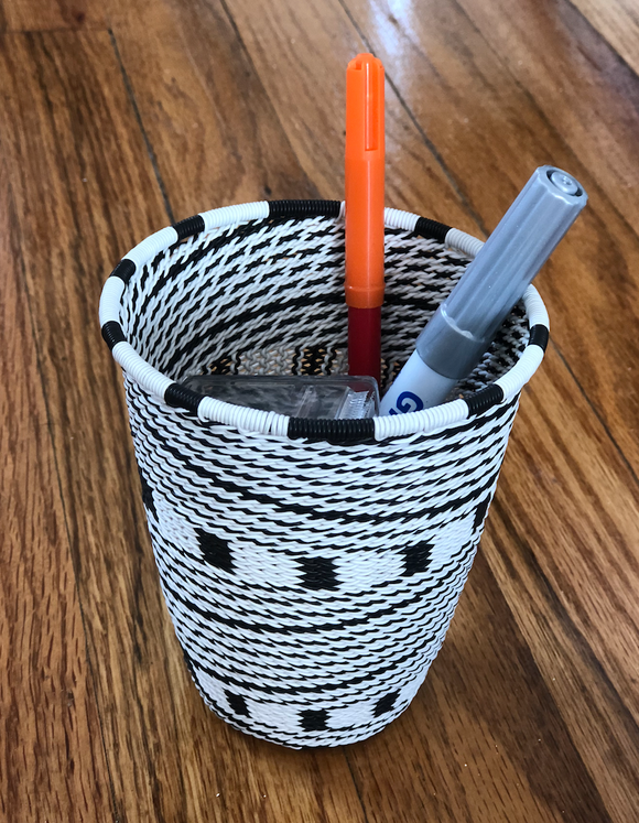 Telephone Wire Pencil Cups