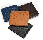 Mens Ostrich Bifold Wallets Slim