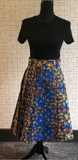 Wax Print High Waisted Skirts