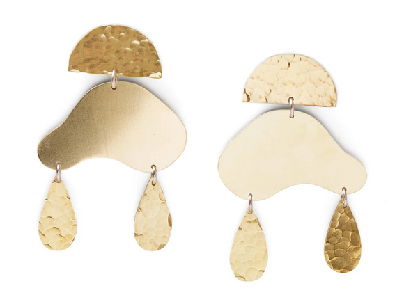 Cloud Brass Earrings