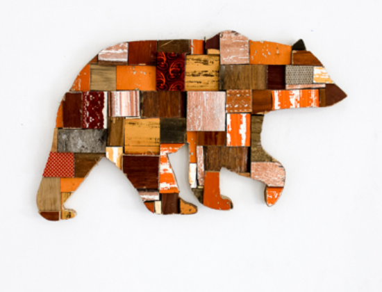 Bear Wood Bloc Art
