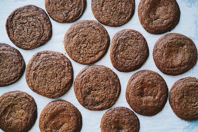 Molasses Ginger Granola Butter Cookies