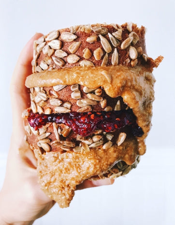 GB&J: Granola Butter & Jelly Sandwich