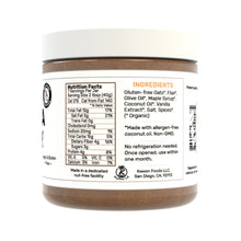 Load image into Gallery viewer, Vanilla Granola Butter Nutrition and Ingredients