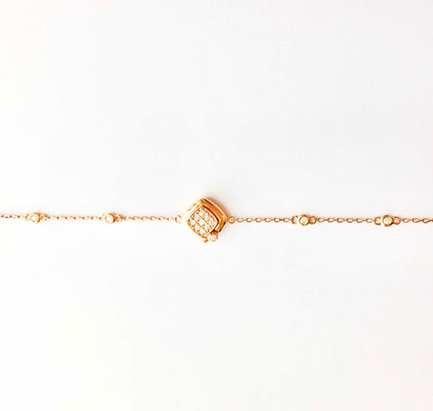 Large Square Diamond Bracelet