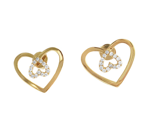 Piece Of Heart Diamond Earrings