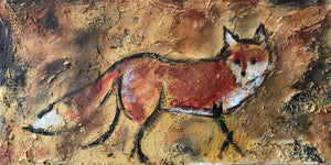 "Extra Deep Gallery Canvas ""Fox on the Run"""