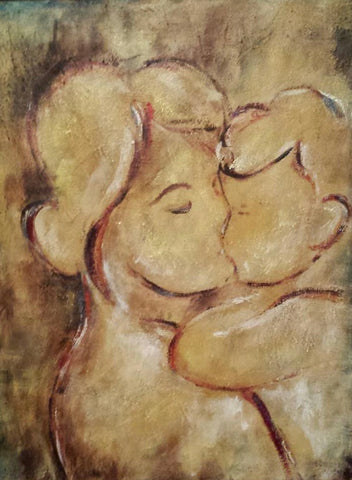 "12 Pk Postcard ""Mother and Son"""