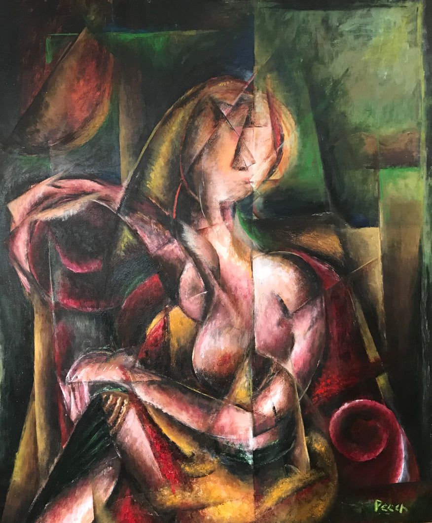 Lady in the Red Armchair