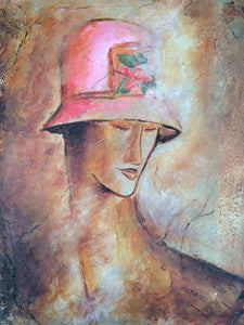 "Framed Print ""Lady with the Red Hat"""