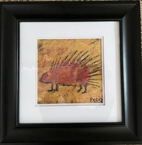"Framed Print ""Red Porcupine"""