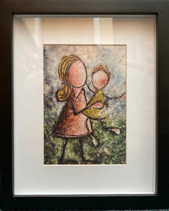 "Framed Print ""Mother and daughter in Spring"""