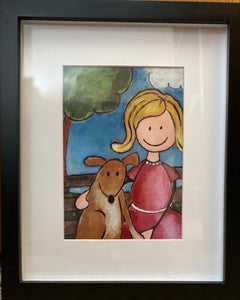 "Framed Print ""Puppy in the Park"""