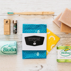 The Essentials Crate product flatlay display environmentally friendly products