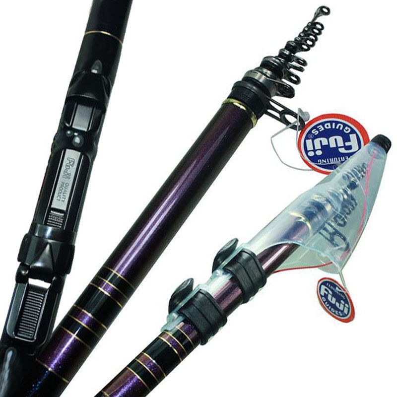 Japanese Telescopic Fishing Rod Carbon Fiber Carp Feeder Rod Surf Casting Rod Rock Spinning Fishing rod Ultra Light 5.3Meter