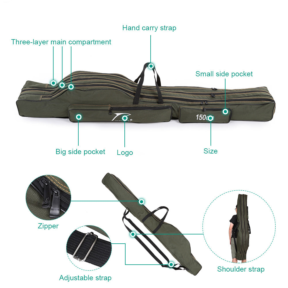 Canvas Foldable Fishing Bag