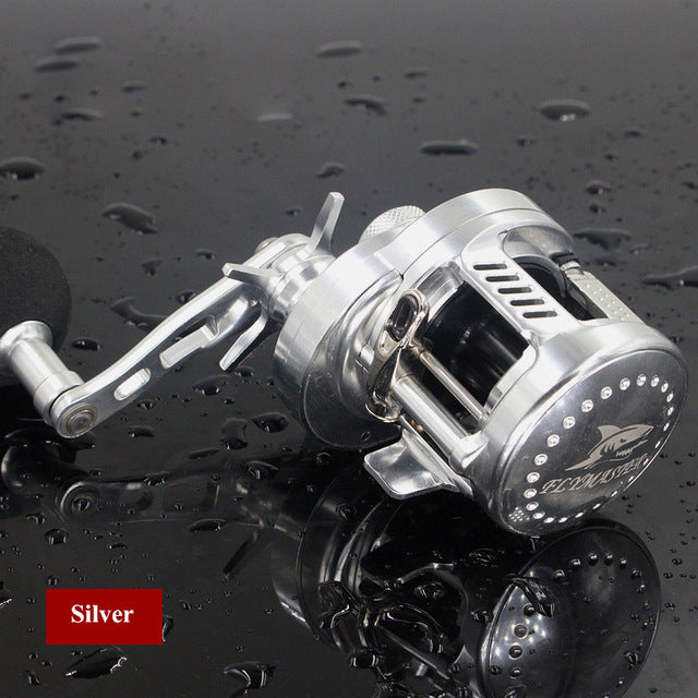 6.2:1 9+1BB Baitcasting Rover Drum Saltwater Fishing Reel Saltwater Sea Fishing Reels Bait Casting Surfcasting Drum Reel HG200