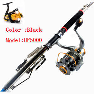 Anmuka 2.1m 2.4m 2.7m Automatic Fishing Rod  Sea River Lake Pool Fishing Pole Device + two color six model Fishing wheel