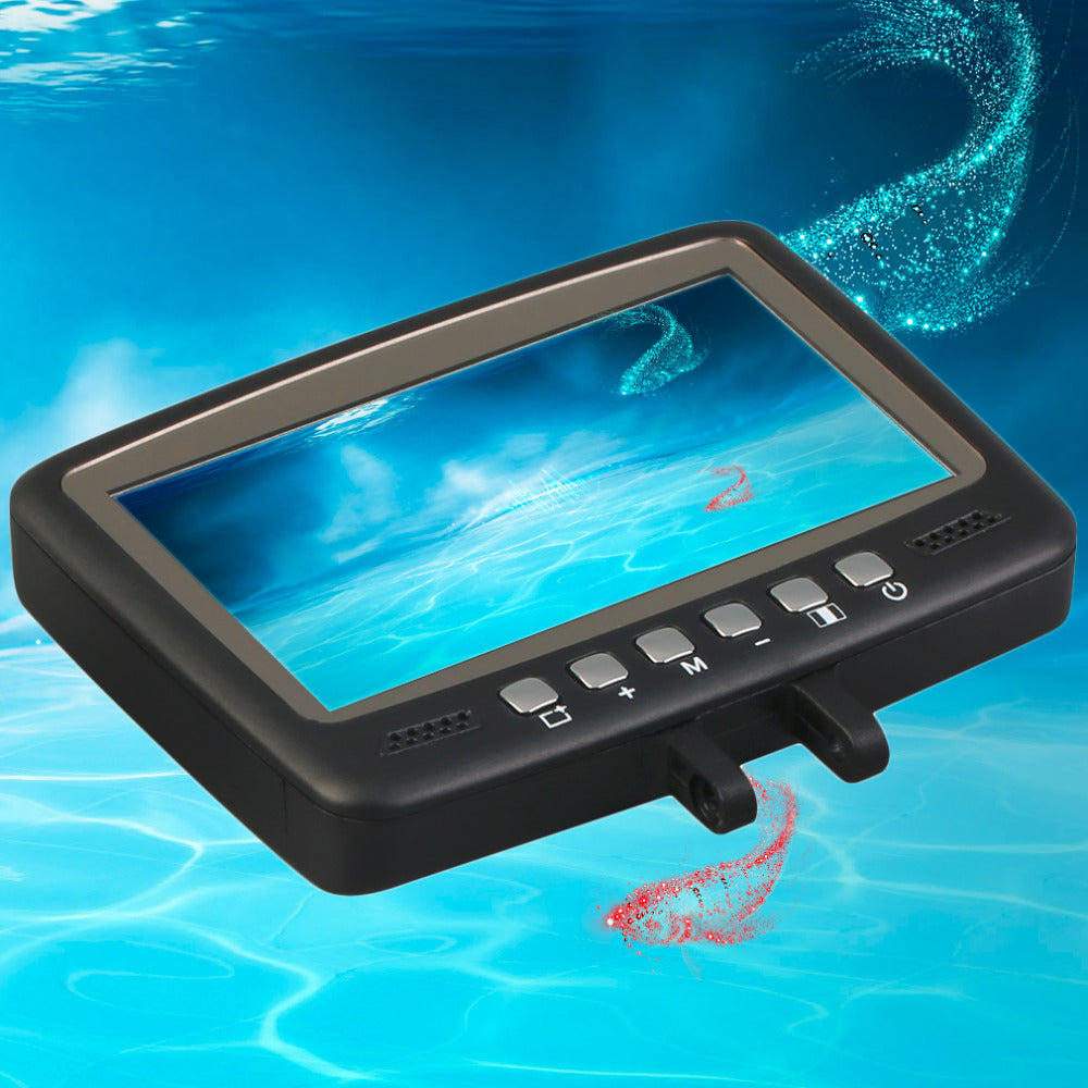 "7HB-DVR 30M Fish Finder Video Underwater Fishing Camera 4.3"" Monitor Night Vision 30m"